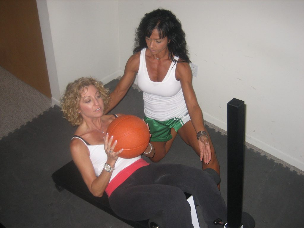 Personal training with Meral.
